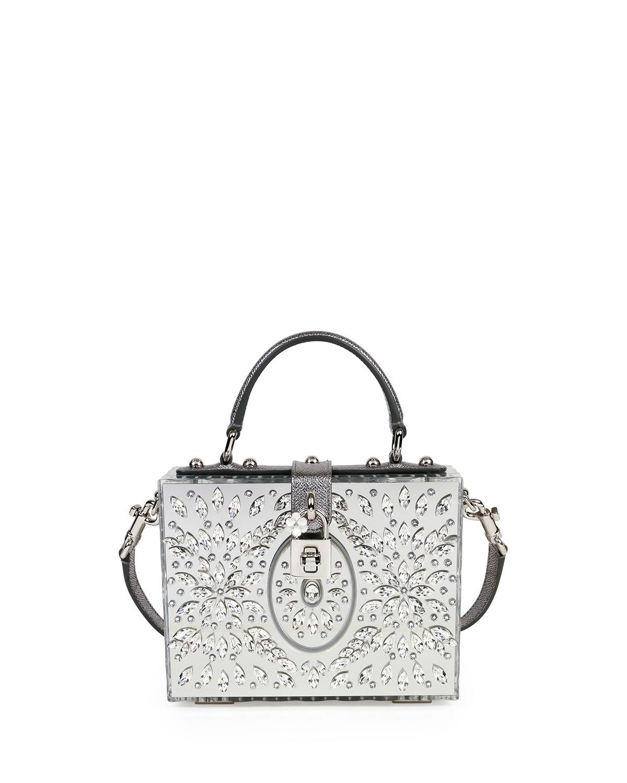 762fc16566 Dolce   Gabbana Dolce Box Medium Mirror Crystal Shoulder Bag ...