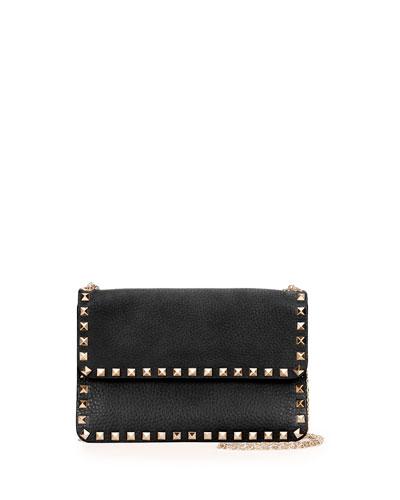 Rockstud Chain Shoulder Bag, Black
