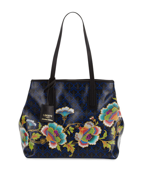 Little Marlborough Paradise Tote Bag, Dark Blue