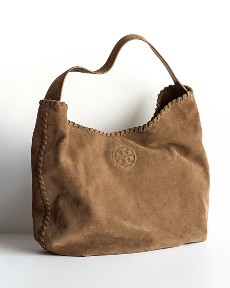 Tory Burch Marion Suede Hobo Bag, River Rock