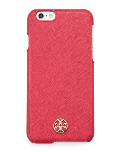 Robinson Saffiano Hardshell iPhone® 6 Case, Dark Peony