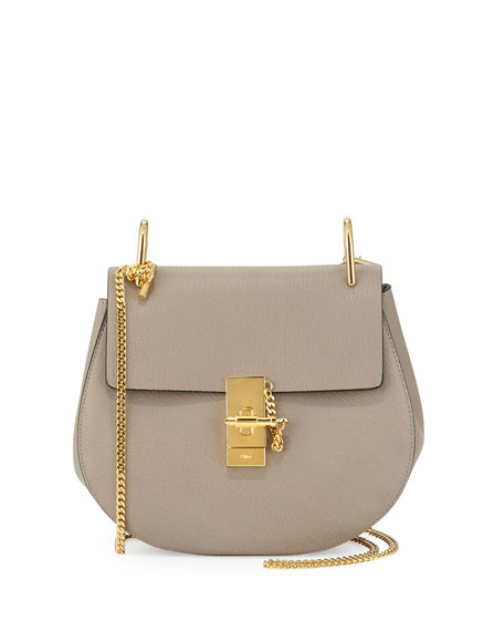 Chloe Drew Small Chain Shoulder Bag, Motty Gray