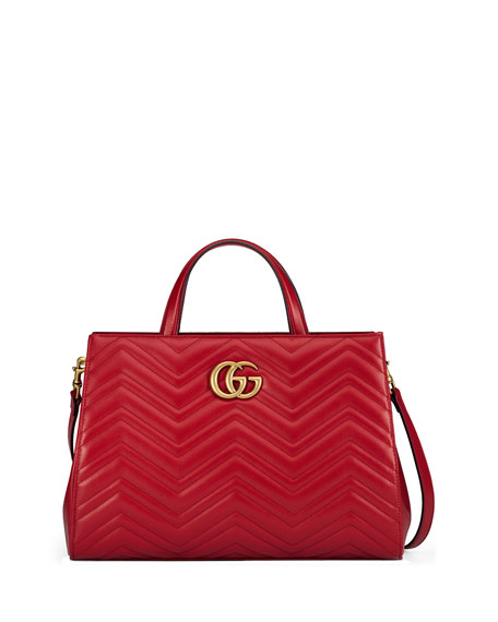 4456ad569a069d Gucci Gg Marmont Top Handle Bag Red | Stanford Center for ...