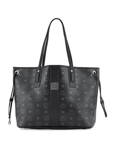 MCM Liz Reversible Medium Shopper Tote Bag, Black