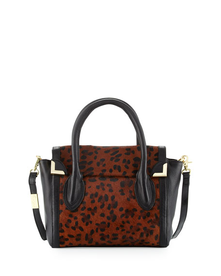 Foley + Corinna Frankie Calf-Hair Flap Satchel Bag,