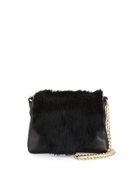 Foley + Corinna Stardust Rabbit-Fur Mini Crossbody Bag,