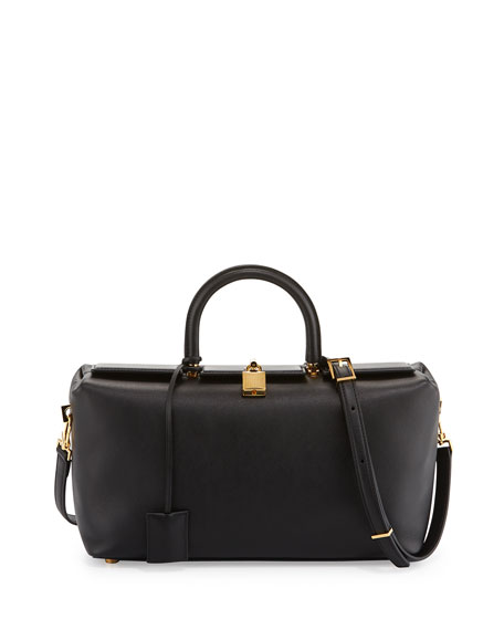 Tom Ford India Small Leather Tote Bag Black Neiman Marcus