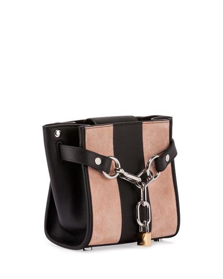 Attica Mini Striped Chain Satchel Bag, Cameo Pink