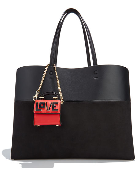 Nano Alex Black Widow Charm for Handbag, Red/Black