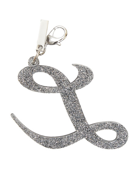 Alphabet L Bag Charm, Starlight Silver