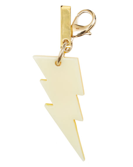 Lightning Bolt Bag Charm, Yellow Glow