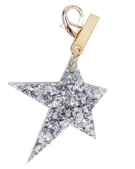 Star Bag Charm, Gold/Silver