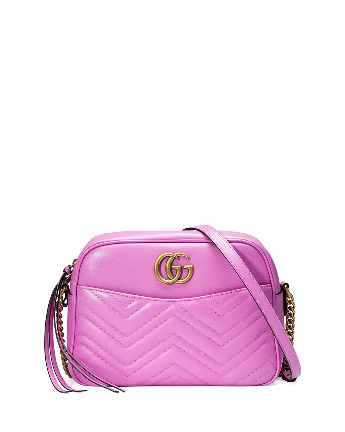 2e2e2f835e2 Gucci GG Marmont 2.0 Medium Quilted Camera Bag, Bright Pink | Neiman ...