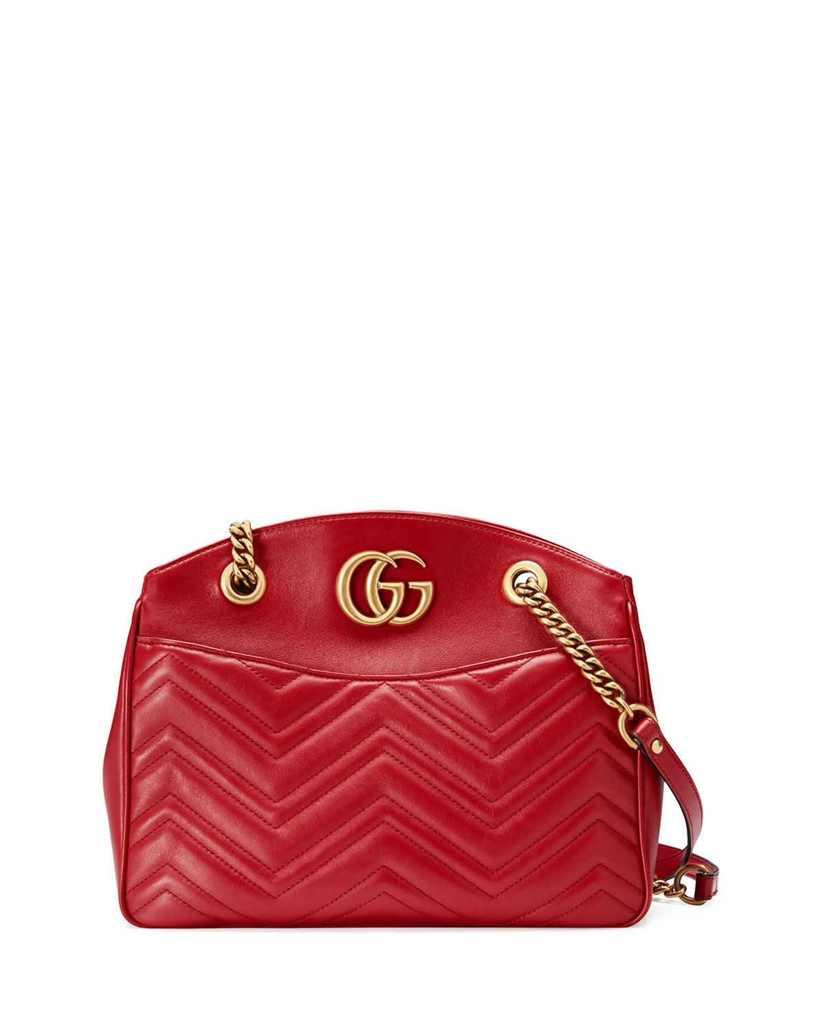3e5efa1018ed Gucci GG Marmont 2.0 Medium Quilted Shoulder Bag, Red | Neiman Marcus
