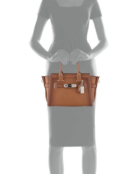 Swagger 27 Leather Satchel Bag, Saddle
