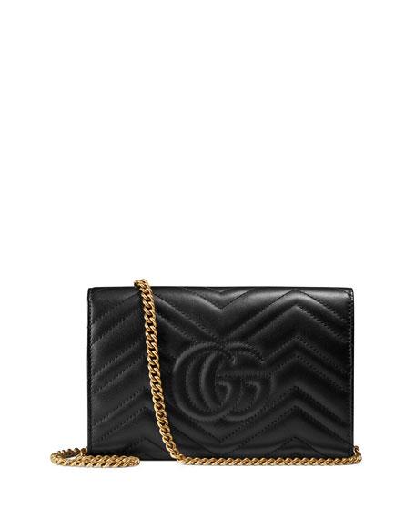 GG Marmont Matelassé Mini Bag, Black