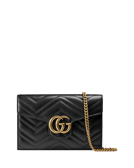 Gucci GG Marmont Matelass?? Mini Bag, Black