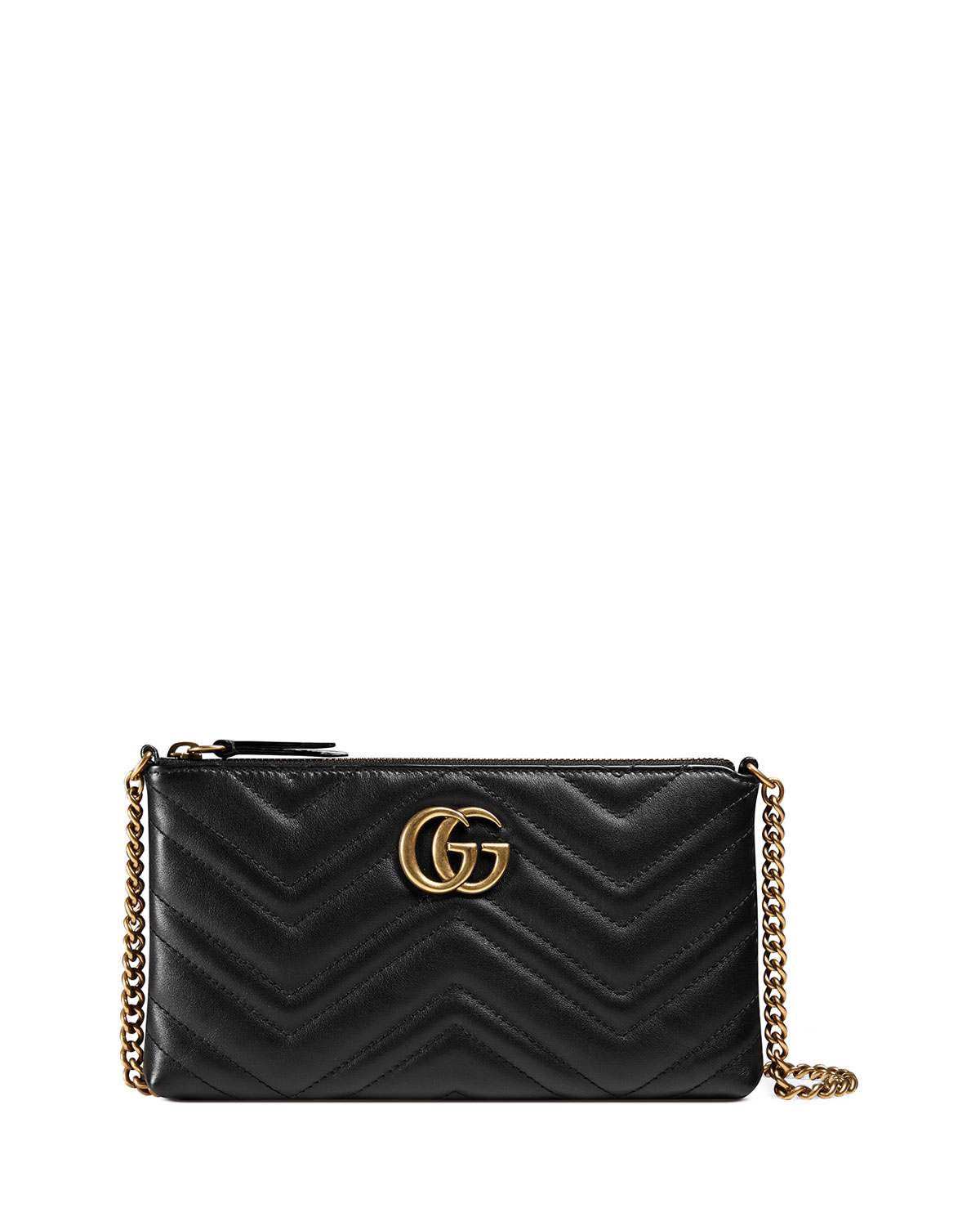 dac9062e607f Gucci GG Marmont 2.0 Large Quilted Wristlet, Black | Neiman Marcus