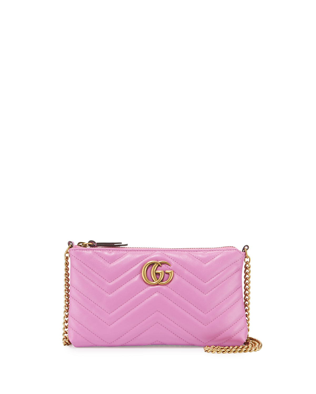dfbe417d063 Gucci GG Marmont Mini Matelassé Chain Bag