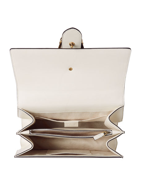 Dionysus Small Web-Stripe Top-Handle Satchel Bag, White