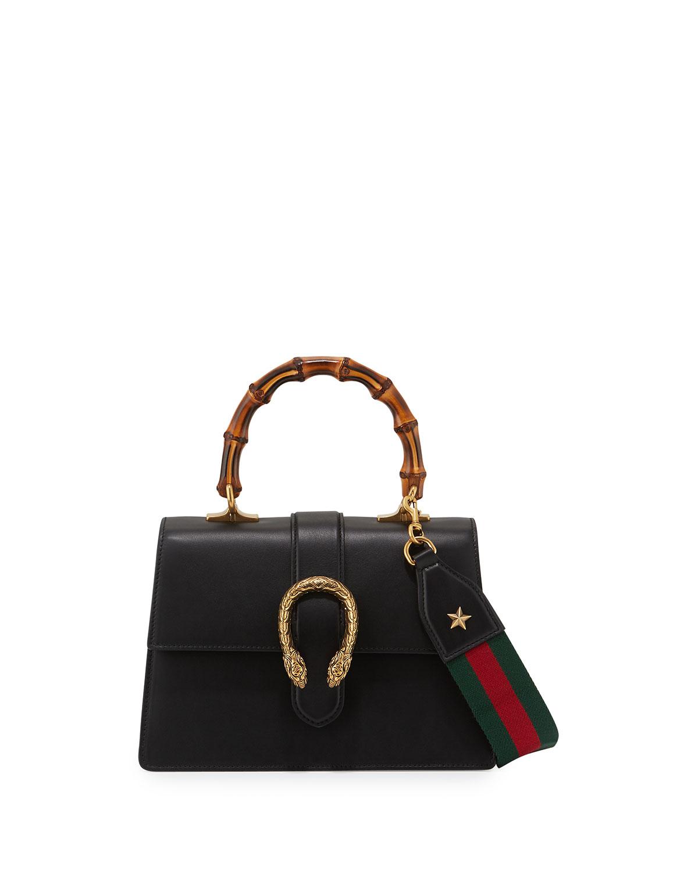 ea542eb36406 Gucci Dionysus Small Top-Handle Satchel Bag, Black | Neiman Marcus