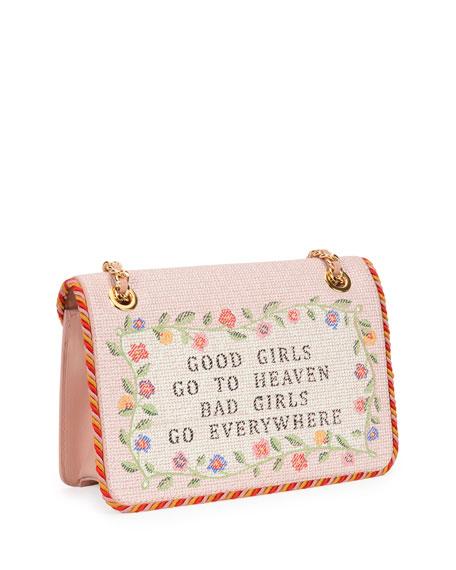 Good Girls Go to Heaven Shoulder Bag, Nude