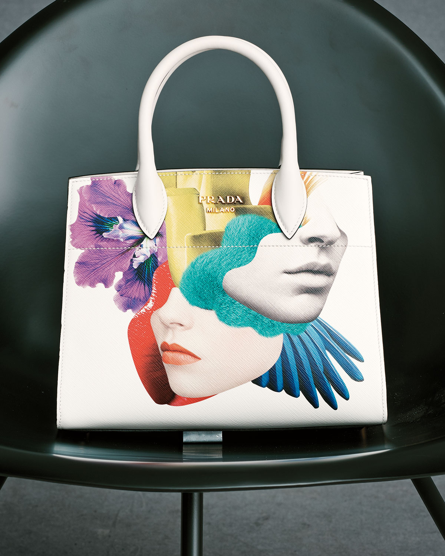 9ecd29df42 ... ebay prada printed medium top handle satchel bag white talco neiman  marcus 6574c 2e5ed ...