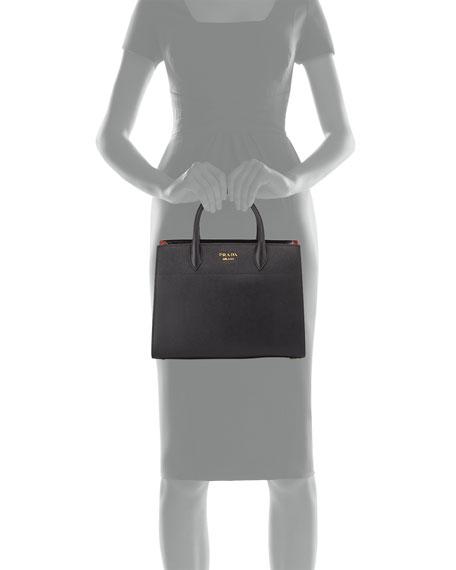 939ab2b37f01 Prada Bibliothèque Medium Saffiano Top-Handle Tote Bag