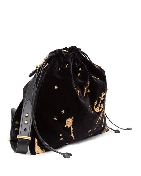 ... low price prada concept calf leather bag whitered prada prada large  astrology embellished drawstring hobo bag 80b66ece101f2