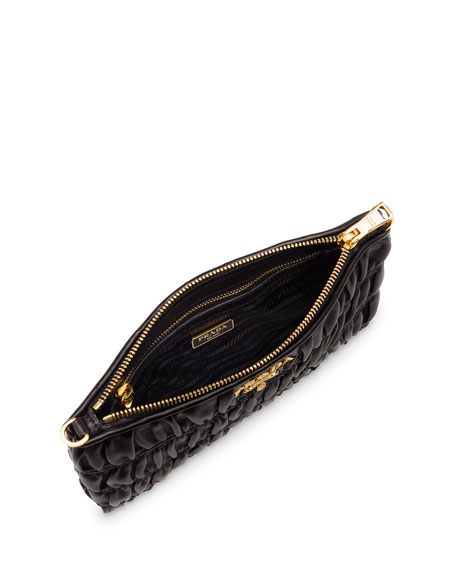 prada body bag - Prada Napa Gaufre Chain Shoulder Bag, Black (Nero)
