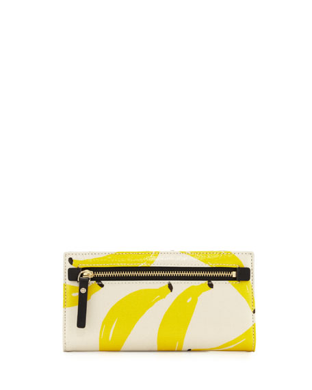 that's bananas stacy printed wallet, yellow/multi