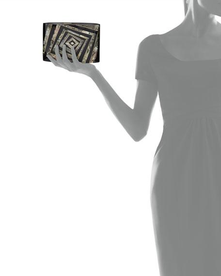 Andra Flask Minaudiere, Black/Gray