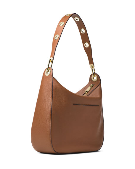 ef8df7467f75 MICHAEL Michael Kors Raven Large Leather Shoulder Bag, Luggage