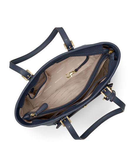 Jet Set Travel Medium Saffiano Tote Bag, Admiral