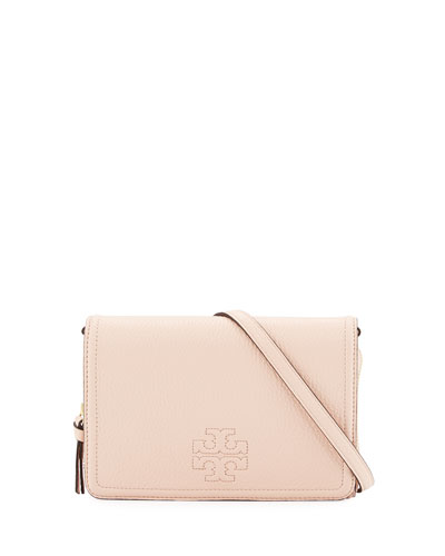 Thea Leather Wallet on Strap, Sweet Melon