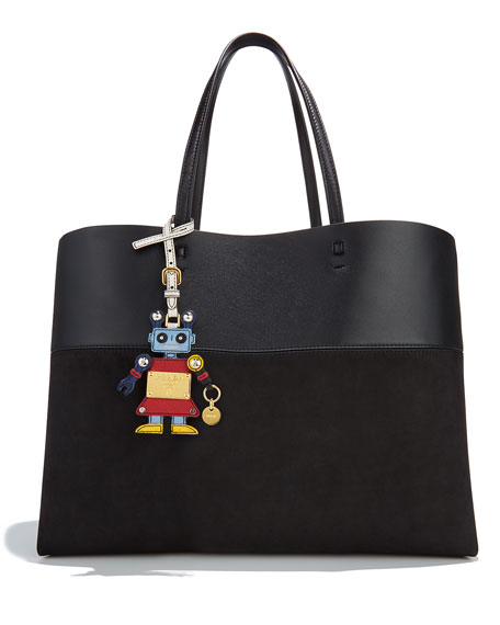 Girl Robot Charm, Red/Light Blue (Fuoco/Astrale)