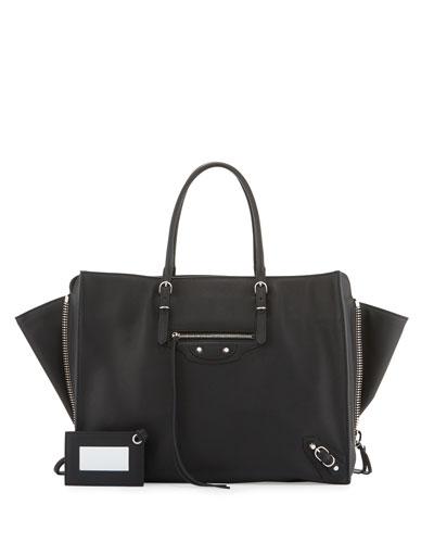 Papier Zip-Around B4 AJ Tote Bag, Black
