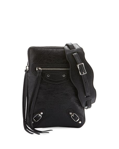 Balenciaga Classic Phone Holder Bag, Black
