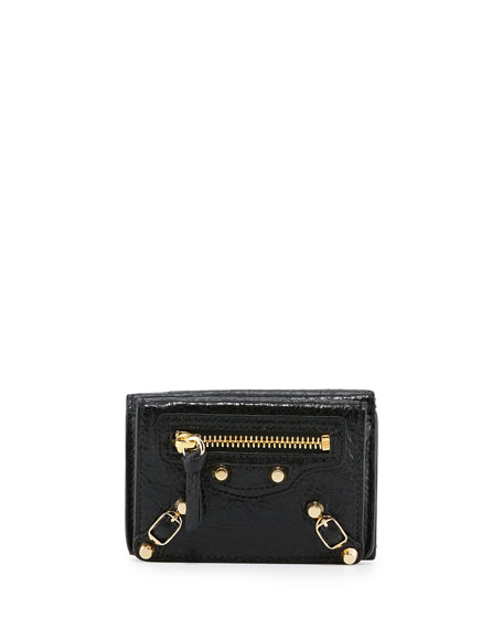 Balenciaga Classic Mini Leather Wallet Black