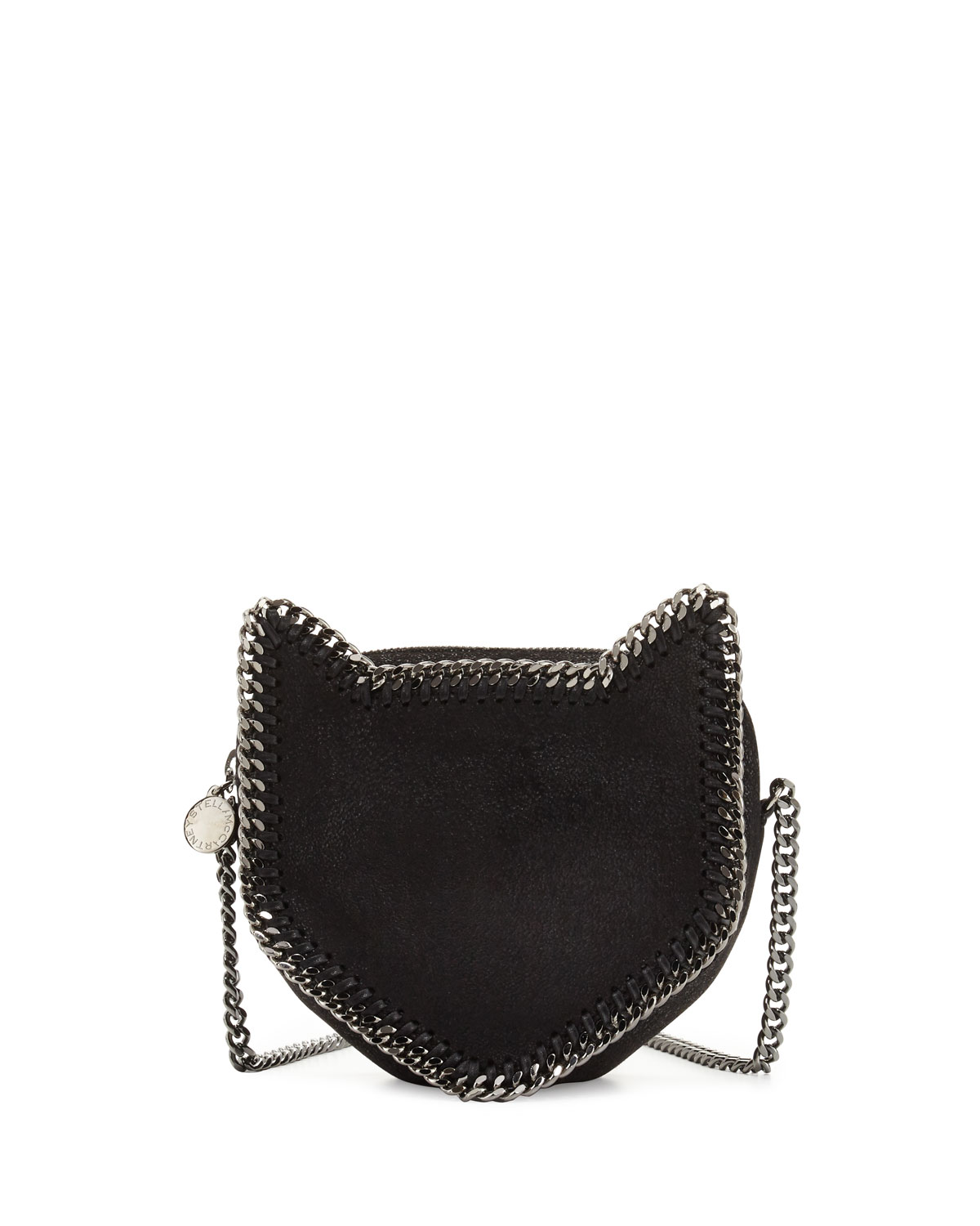 60b5c8d98d533 Stella McCartney Falabella Cat Crossbody Bag, Black | Neiman Marcus