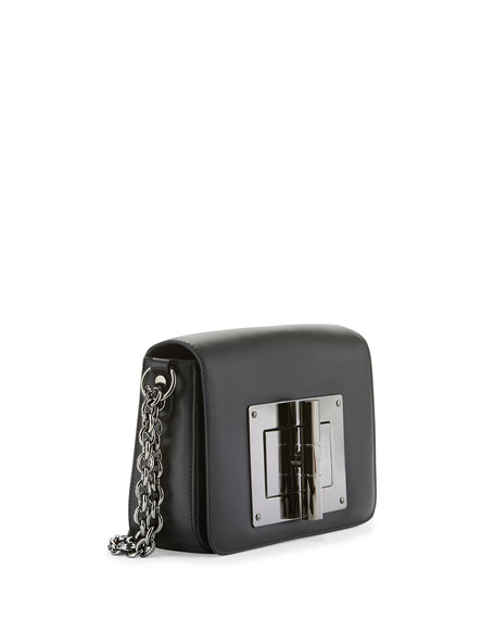 Natalia Medium Chain Crossbody Bag, Black