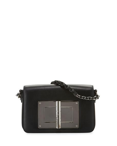 Natalia Medium Chain Crossbody Bag, Black