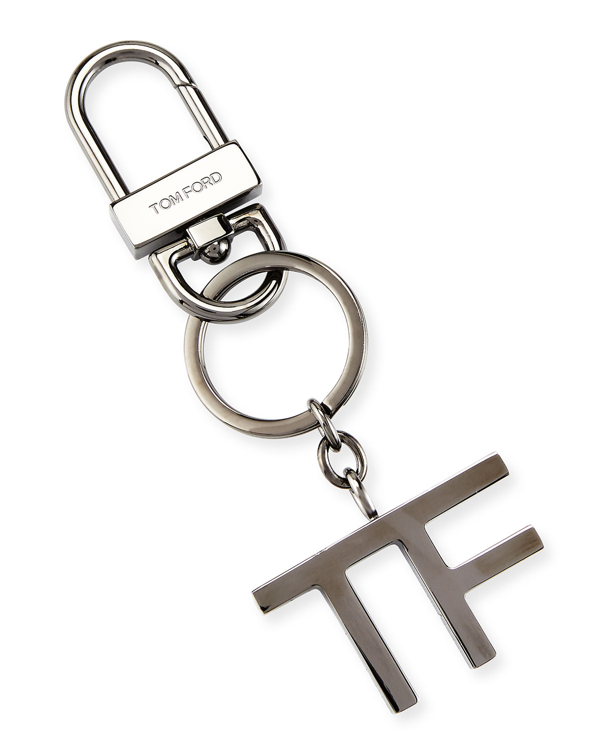 Tom Ford Metal Tf Keychain Gunmetal Neiman Marcus