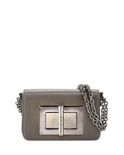Natalia Medium Chain Crossbody Bag, Graphite