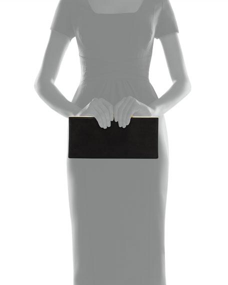 Celeste Logo-Clasp Clutch Bag, Black