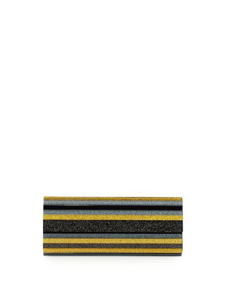 Jimmy Choo Sweetie Lacquered Acrylic Clutch Bag, Yellow