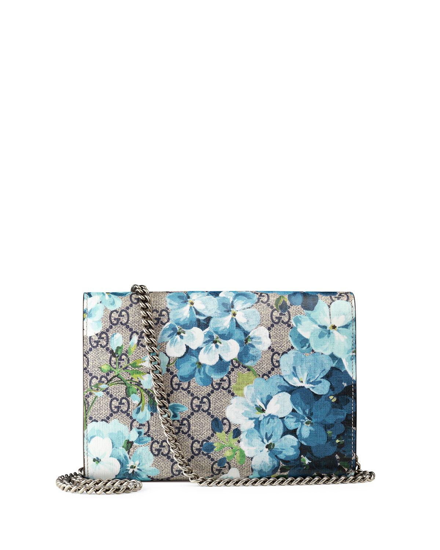 ef9f1320a780 Gucci Dionysus Blooms-Print Mini Chain Bag, Blue/Navy | Neiman Marcus