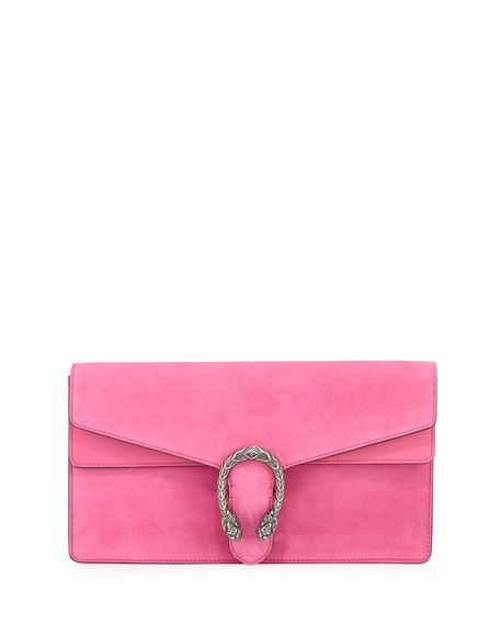 Gucci Dionysus Small Suede Clutch Bag, Pink