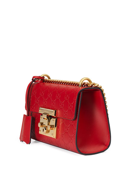 4ed3e2e1ab98 Padlock Gucci Signature Shoulder Bag Red | Stanford Center for ...