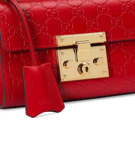 b2a9a5988142 Gucci Padlock Gucci Signature Small Shoulder Bag